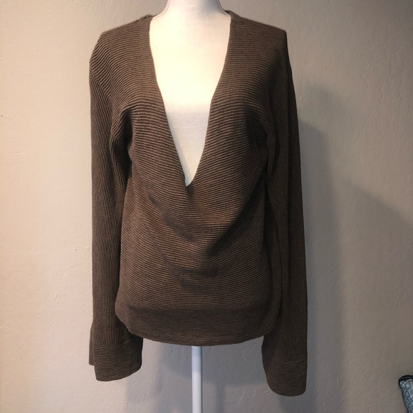 Free People Sweaters - free people ribbed bell sleeve sweater